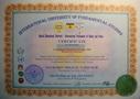Сертификат руководителя Системы Миание М.Ю.